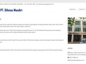 web perusahaan chemical